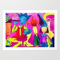 Partytime Art Print