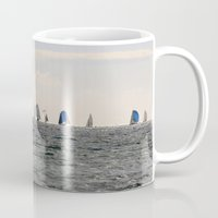 sailing Mugs featuring sailing by habish