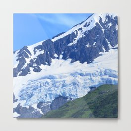 Whittier Glacier Metal Print