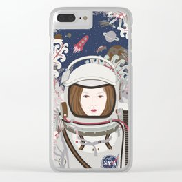 Lady Astronaut Clear iPhone Case