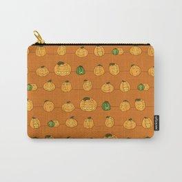 Pumpkin Pattern Orange Carry-All Pouch