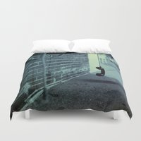hook Duvet Covers featuring Off The Hook by Nick Coleman