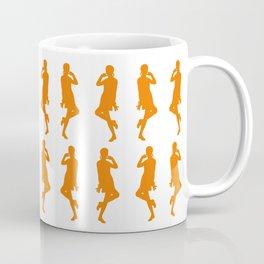 Orange Bold Mod GoGo Girls Coffee Mug