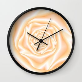 Pale Peach Spiral Rose Wall Clock