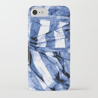 bands iPhone & iPod Cases featuring Blue Bands by Motif Mondial
