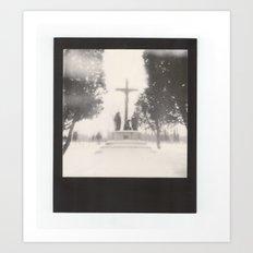 frozen cemetery... Art Print