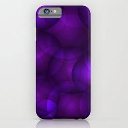 Glowing purple soap circles and gentle volume bubbles of air and water. iPhone Case
