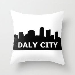 Daly City Skyline Throw Pillow