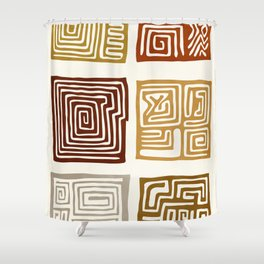 African Ceremonial Pattern Shower Curtain