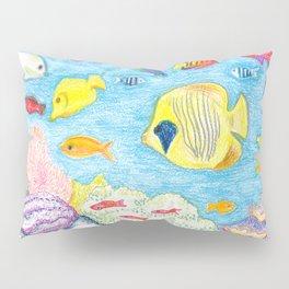 Crayon Fish Pillow Sham
