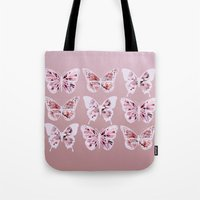 butterflies Tote Bags featuring Butterflies by Vickn