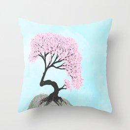 Sakura Bonsai Throw Pillow