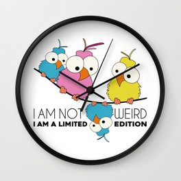 Birds on Wire Limited Edition Wall Clock