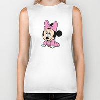minnie mouse Biker Tanks featuring Cute baby Minnie Mouse by Yuliya L