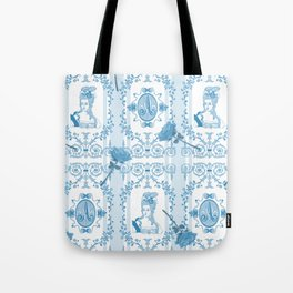 Marie-Antoinette Monogram (Aqua) Tote Bag
