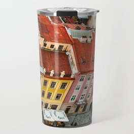 the rooftops of the city Travel Mug