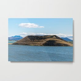 Skutustadagigar pseudo-craters in the lake Myvatn area - Iceland Metal Print