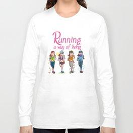 Running girl Long Sleeve T-shirt