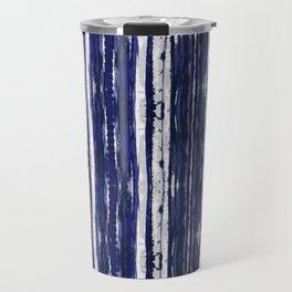 Hand Drawn Ikat Stripe Travel Mug