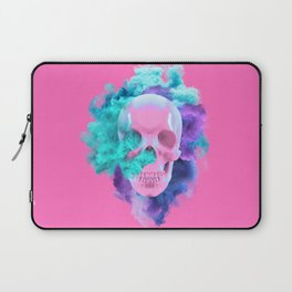 Colored Smoking Skull Laptop Sleeve