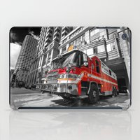 truck iPad Cases featuring Fire Truck  by Rob Hawkins Photography