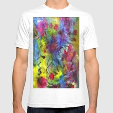 Spring Time Painting  White MEDIUM Mens Fitted Tee