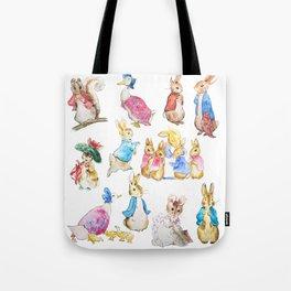Tales of Peter Rabbit  characters Beatrix Potter Tote Bag
