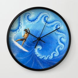Surfractal Wall Clock