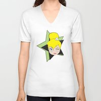 tinker bell V-neck T-shirts featuring I Am Smart - Tinker Bell by AmadeuxArt