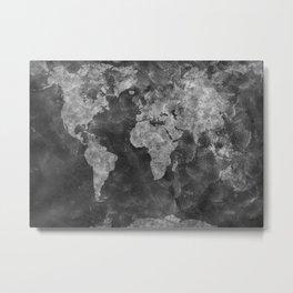 world map 55 black Metal Print