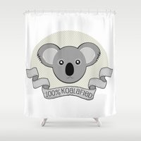 the 100 Shower Curtains featuring 100% Koalafied by Cute to Boot