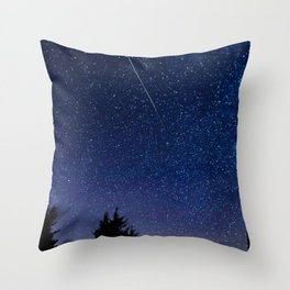 Meteor Perseid Throw Pillow