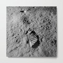 Nasa Picture 1: footprint on the moon Metal Print