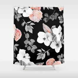 Night bloom - moonlit flame Shower Curtain