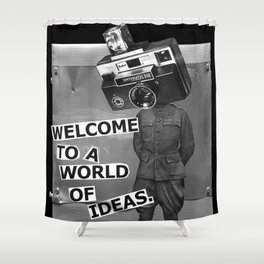 World of Ideas Shower Curtain