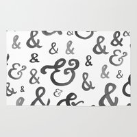 ampersand Area & Throw Rugs featuring Ampersand by Jill lynch