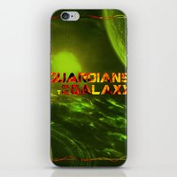 guardians of the galaxy iPhone & iPod Skins featuring Guardians of the Galaxy by bergertime