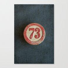 Seventy Three Canvas Print