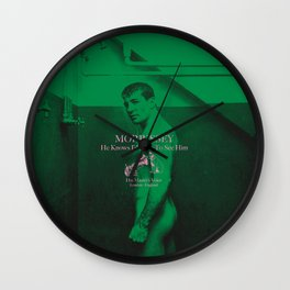 """HMV """"He Knows I'd Love To See Him"""" Wall Clock"""
