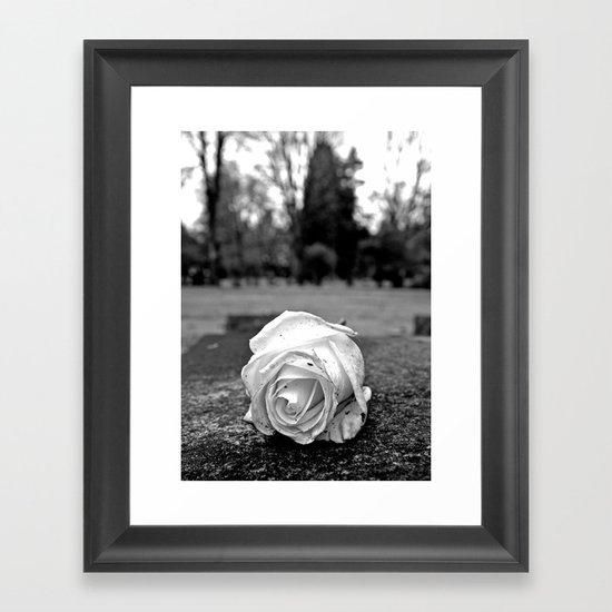 One last rose Framed Art Print