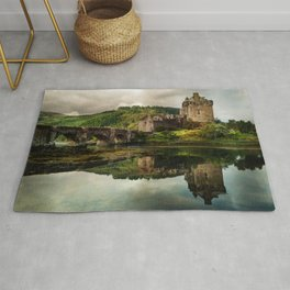 Landscape with an old castle Rug