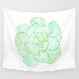 Crassula - Green Succulent Wall Tapestry
