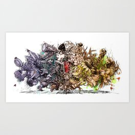People desire nature Art Print