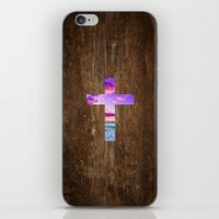cross iPhone & iPod Skins featuring CROSS by Pocket Fuel
