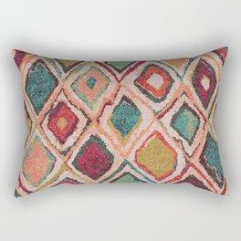 V38 EPIC ANTHROPOLOGIE MOROCCAN CARPET TEXTURE Rectangular Pillow