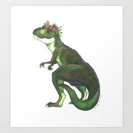 Pretty T-Rex Art Print