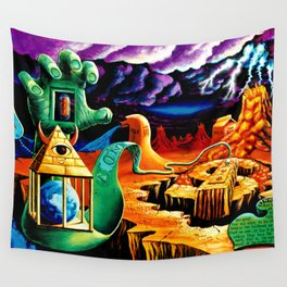 Trippy Psychedeic Surreal Art by VIncent Monao - The Practical Deception Wall Tapestry