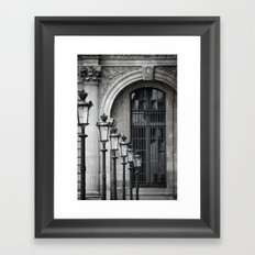 Parisian Streetlamps Framed Art Print