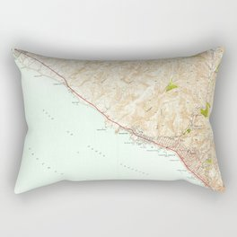 Laguna Beach, CA from 1948 Vintage Map - High Quality Rectangular Pillow