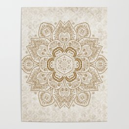 Mandala Temptation in Cream Poster